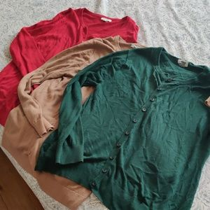 Bundle of old Navy cardigans XL